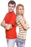 Young boyfriend and girlfriend Royalty Free Stock Images