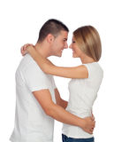 Young boyfriends hugging Royalty Free Stock Photo