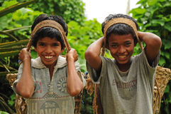 Young boys as porters, India Stock Photography