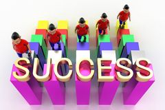 Young Boys Climbing In Success Text Graph Royalty Free Stock Photos
