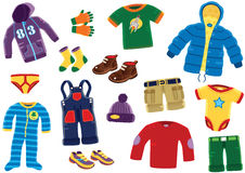 Young boys clothing items Royalty Free Stock Photography
