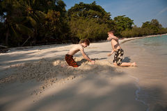 Young boys are enjoying playing at Royalty Free Stock Photo