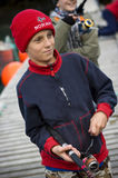 Young boys fishing Royalty Free Stock Image