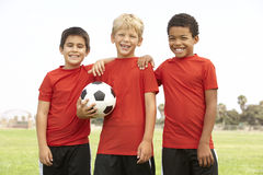 Young Boys In Football Team. Smiling stock photo