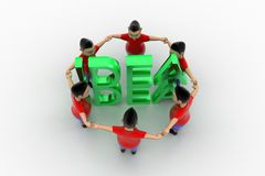 Young Boys Form Circled Group  In Idea Royalty Free Stock Image