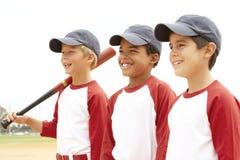 Young Boys in het Team van het Honkbal Stock Foto