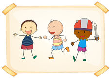Young boys. Illustration of three young boys Royalty Free Stock Image