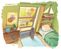 Young Boys Room Stock Photo