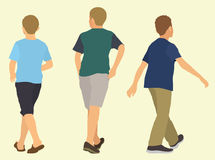 Young Boys Walking Away Stock Images