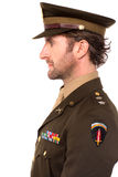 Young brave army officer Royalty Free Stock Photo