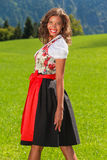 Young Brazilian as Bavarian Beauty Stock Photos
