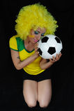 Young Brazilian football fan Royalty Free Stock Photography