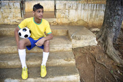 Young Brazilian Soccer Football Player Royalty Free Stock Photography