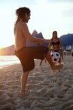Young Brazilians Playing Keepie Uppie Altinho Rio Stock Photos