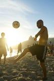 Young Brazilians Playing Keepy Uppy Altinho Rio Beach Royalty Free Stock Photo