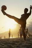 Young Brazilians Playing Keepy Uppy Altinho Rio Stock Images