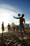 Young Brazilians Playing Keepy Uppy Altinho Rio Royalty Free Stock Images