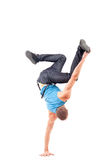 Young break dancer showing his skills Royalty Free Stock Photos