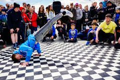 Youth breakdance festival royalty free stock photography