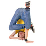 Young breakdancer posing. Royalty Free Stock Photo