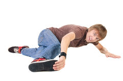 Young breakdancer posing. Royalty Free Stock Image