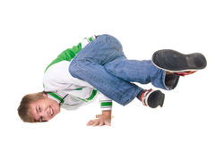 Young breakdancer posing. Royalty Free Stock Images