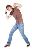 Young breakdancer posing. Stock Photo