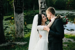 Young bridal couple Royalty Free Stock Images