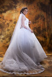 Young Bride. Young woman in a wedding dress stock photos