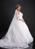 Young Bride. Young woman in a wedding dress stock photo