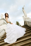 Young bride in Arkhangelskoye estate (XIX century) Royalty Free Stock Photography