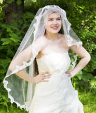 Young bride with braces Royalty Free Stock Image