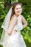 Young bride with braces Royalty Free Stock Photography