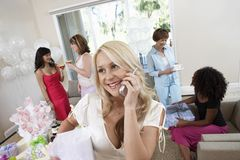 Young Bride On Call Stock Photography