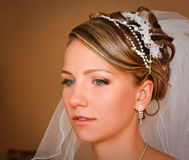 Young Bride closeup Royalty Free Stock Image