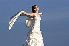 Young bride in countryside Stock Image