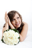 Young bride dreaming Stock Photography