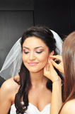 Young bride earrings Stock Image