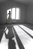 Young bride on the empty room Stock Photography