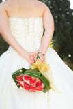 Young bride with flowers Royalty Free Stock Image