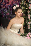 Young bride with flowers in her hair Royalty Free Stock Image