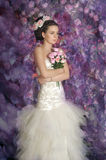 Young bride with flowers in her hair Royalty Free Stock Photography