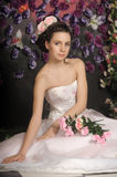 Young bride with flowers in her hair Stock Images