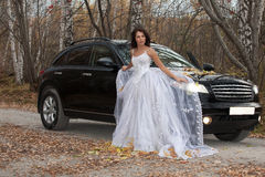Young Bride In A Forest Royalty Free Stock Photo