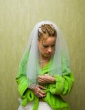 Young bride getting ready Royalty Free Stock Photo