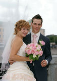 Young  Bride And Groom Stock Photo