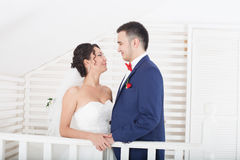 A young bride and groom Royalty Free Stock Image