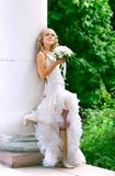 Young bride on her wedding day Stock Images