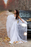 Young Bride In A Forest Royalty Free Stock Photography