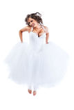 Young bride jumping Royalty Free Stock Photography